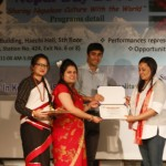 Felicitation To Dr. Sushila Maharjan by SONSIK President Mrs Indira for receiving 2016 Elsevier Foundation Awards for Early Career Women Scientists in the Developing World